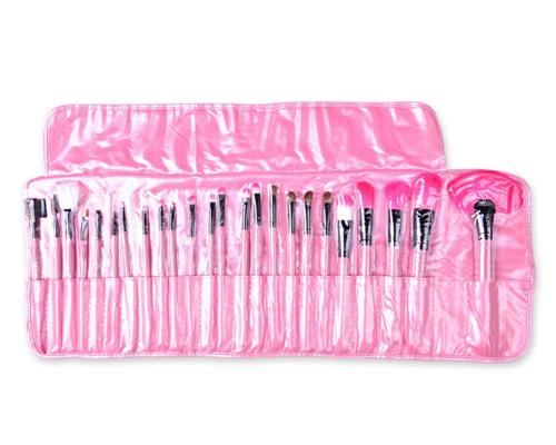 24 Pcs Professional Makeup Brush Set - Pink