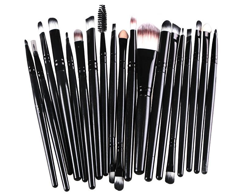 20 Pcs Professional Makeup Brush Set - Black