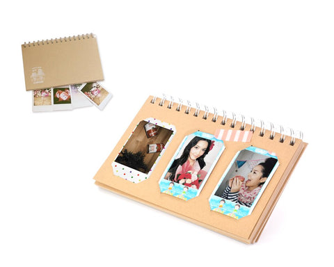 Retro Book Photo Album for Fujifilm Instax Mini Films - Frame