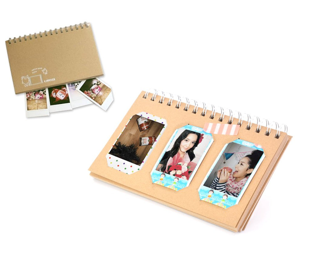 Retro Book Photo Album for Fujifilm Instax Mini Films - Bird