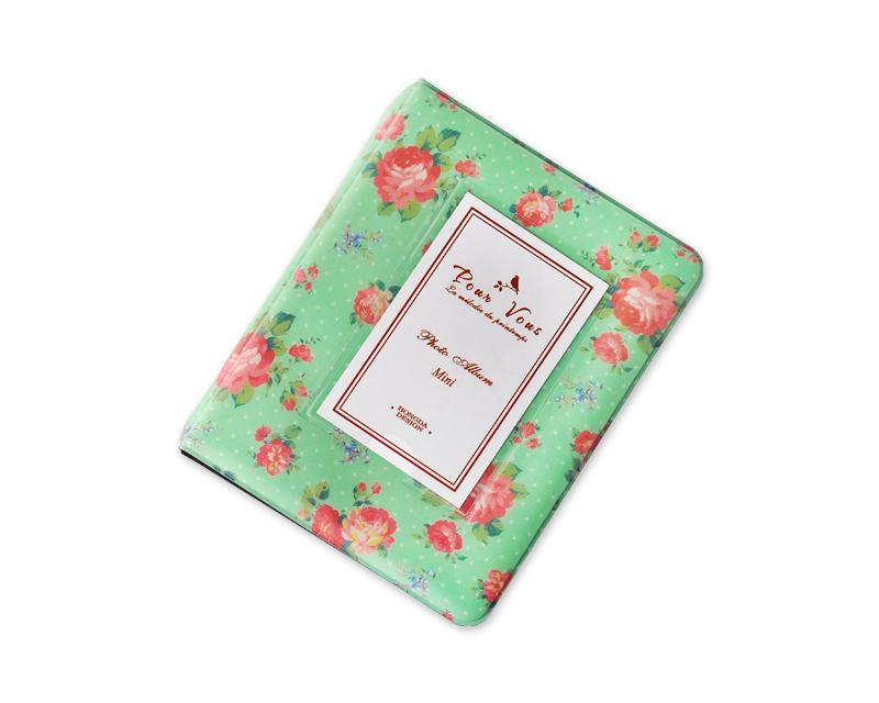 Retro Rose Photo Album for Fujifilm Instax Mini Films - Green