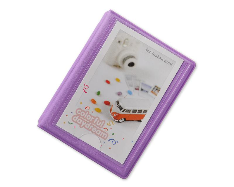 3 inches Colorful Photo Album for Fujifilm Instax Mini Films - Purple