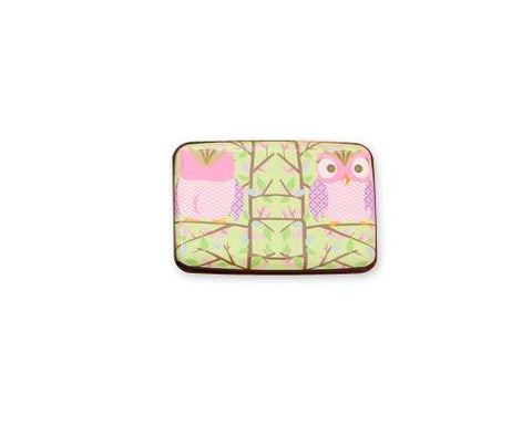 Owl Printed Business Card Case - Pink