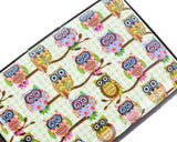 Owl Printed Business Card Case - White