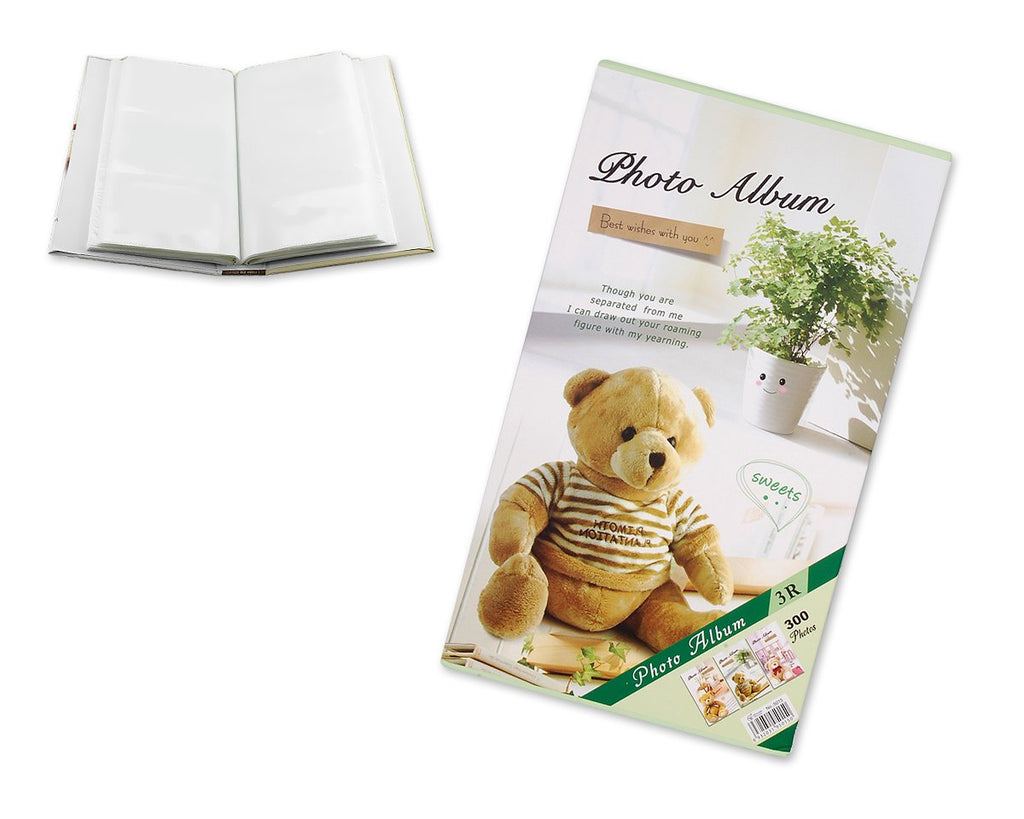 Bear Photo Album for Fujifilm Instax Wide 210/ 200/ 300 Films - Green