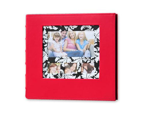 PU Leather Photo Album for Fujifilm Instax Wide 210/200/300 Film - Red