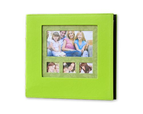 PU Leather Photo Album for Fujifilm Instax Wide 210/200/300 Film-Green