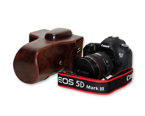Retro Canon EOS 5D Mark III Camera Leather Case