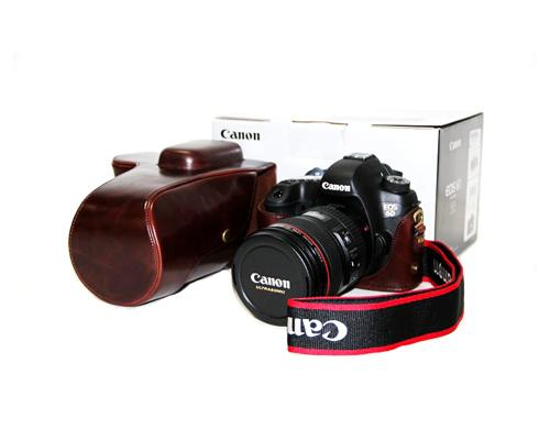 Retro Canon EOS 6D Camera Leather Case