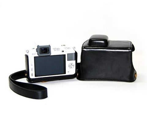 Retro Nikon 1 V2 Camera Leather Case - Black