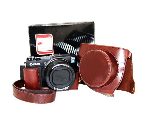 Retro Canon PowerShot G1 X Mark II Camera Leather Case