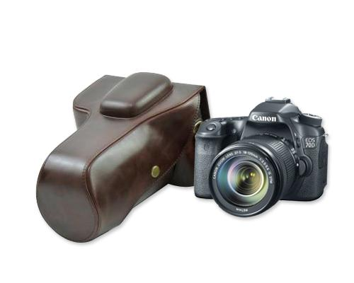 Retro Canon EOS 80D Camera Leather Case