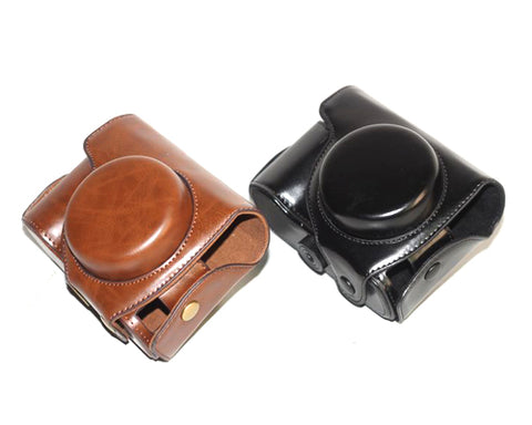 Retro Nikon Coolpix P7800 Camera Leather Case