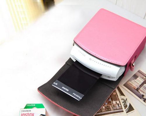 Retro Fujifilm Instax Share SP-1 Printer Leather Case - Pink