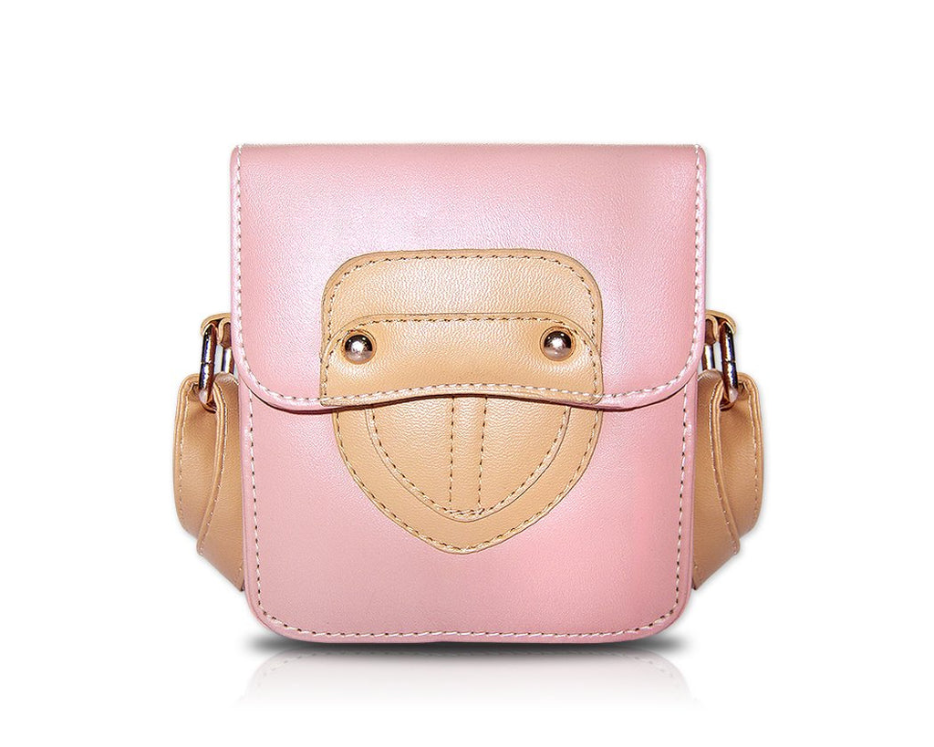 Retro Fujifilm Instax Mini Camera Leather Bag - Pink