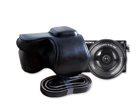 Retro Sony NEX-5T Camera Leather Case