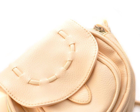 Lovely PU Leather Shoulder Bag - Beige