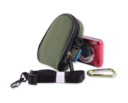 Dual Zipper Samsung ST150F Digital Camera Case - Green