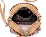 Classy PU Leather Shoulder Bag with Adjustable Strap - Beige