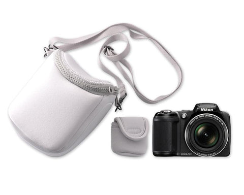 Soft Mirrorless Camera Bag with Detatchable Battery Pouch - Gray