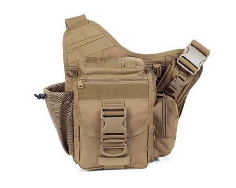 Water-reisitant Nylon DSLR Cross Body Camera Bag - Khaki
