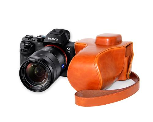 Retro Sony Alpha a7II Camera Leather Case