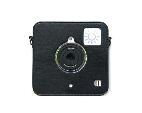 PU Leather Case for Polaroid Socialmatic Instant Digital Camera-Black