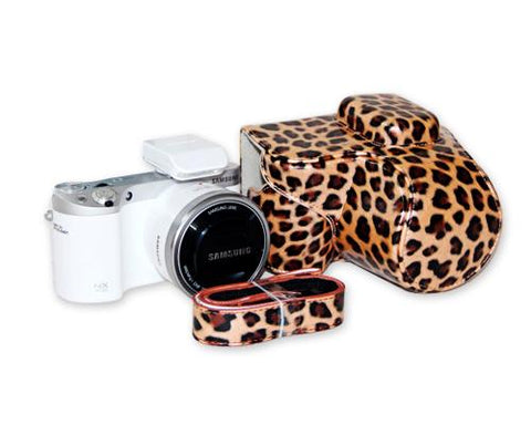 Retro Leopard Samsung Smart Camera NX500 Leather Case