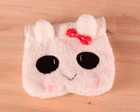 Cute Rabbit Draw String Plush Pouch