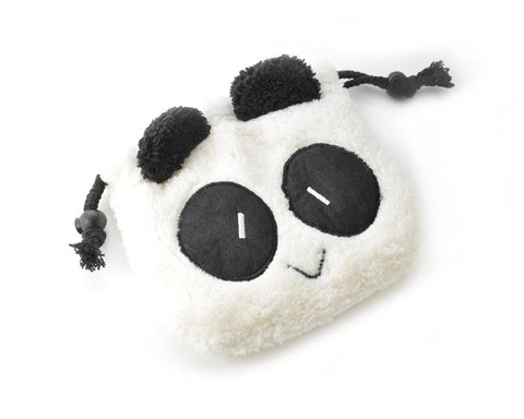 Cute Panda Draw String Plush Pouch