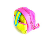 Colorful Zipper Camera Pouch for Fujifilm Instax Mini - Pink & Yellow