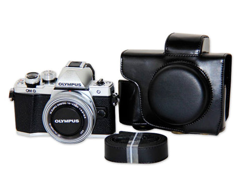 Retro Olympus OM-D E-M10 Mark III Leather Camera Case