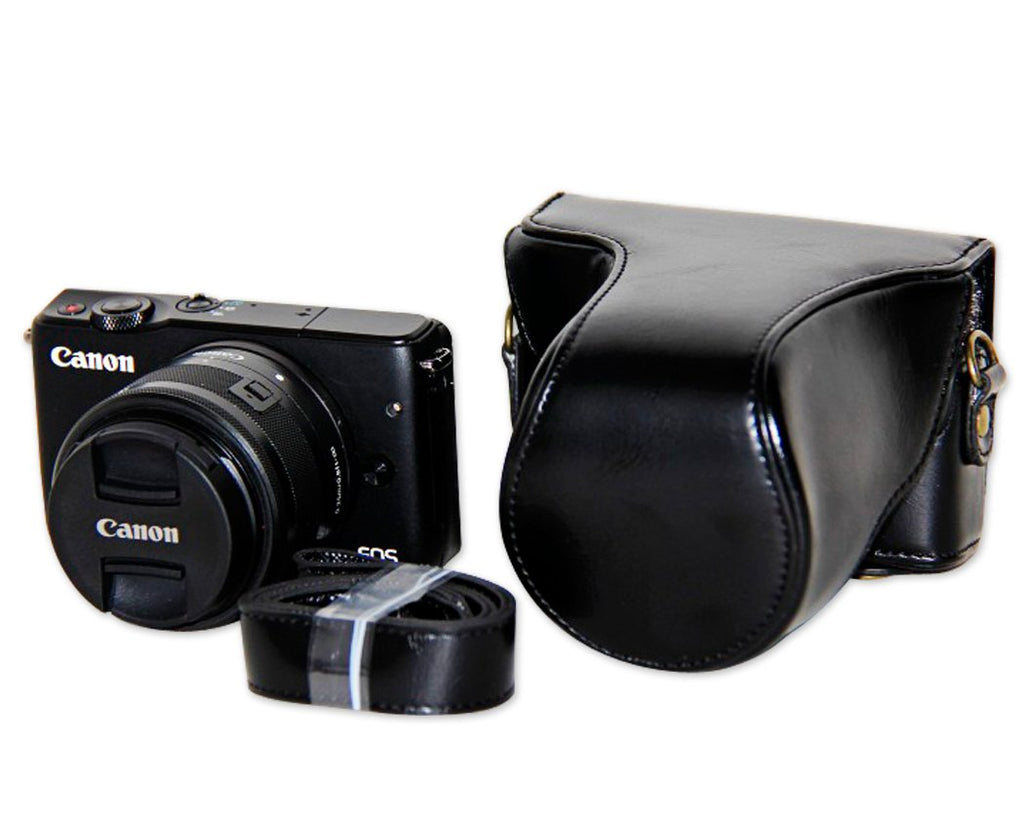 Retro Canon EOS M10 Leather Camera Case