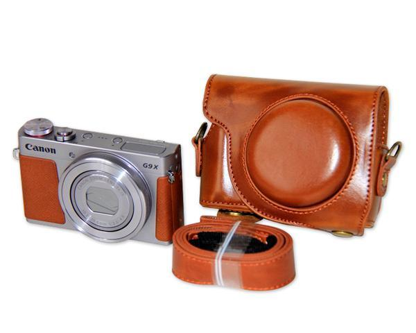Retro Canon PowerShot G9 X Leather Camera Case