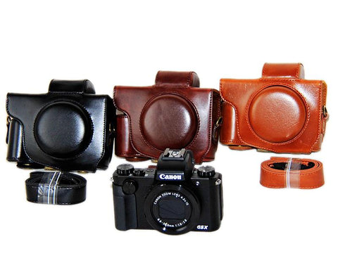 Retro Canon PowerShot G5 X Leather Camera Case