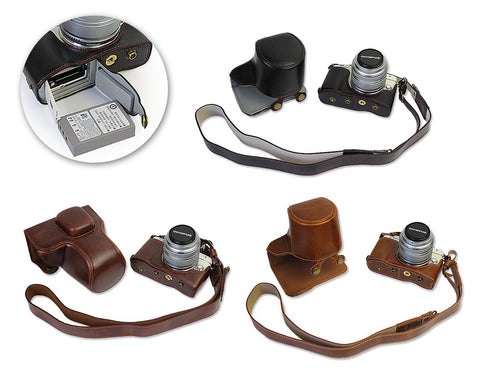 Premium Series Olympus E-PL7 Camera Leather Case