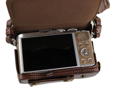 Premium Series Olympus E-PL9 Camera Leather Case