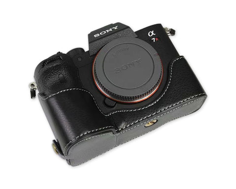 Retro Sony A7R IV Genuine Leather Half Camera Case