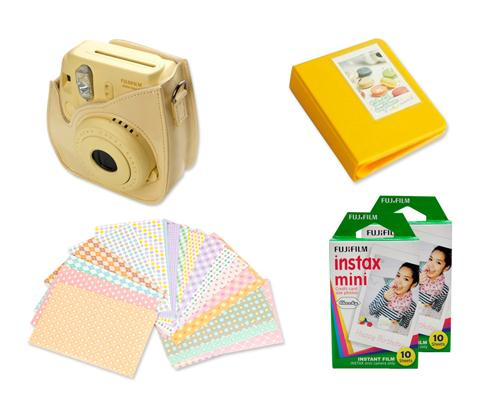 Fujifilm Bundle Set Fuji Mini Case/Film for Fuji Instax Mini 8 -Yellow