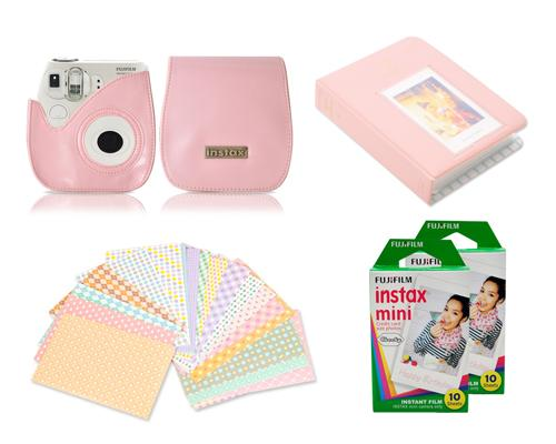 Fujifilm Bundle Set Instax Film/Fuji Case for Fuji Instax Mini 7S-Pink