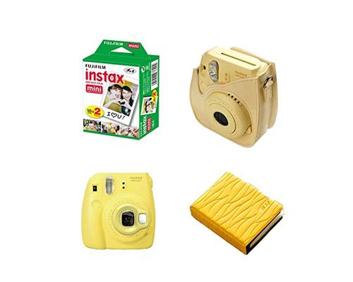 Fujifilm Bundle Leaf Album/Films for Fujifilm Instax Mini 8 - Yellow