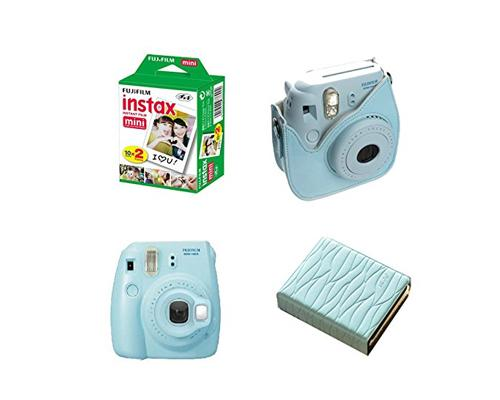 Fujifilm Bundle Leaf Album/Films for Fujifilm Instax Mini 8 - Blue