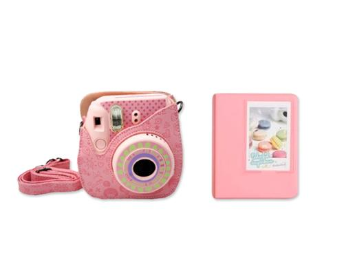 Fujifilm Bundle Set Mini Case/Album for Fuji Instax Mini 8 - Pink