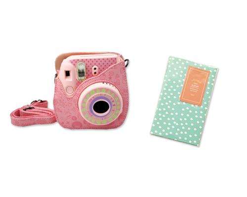 Fujifilm Bundle Set Mini Case/Album for Fuji Instax Mini 8 - Daisy