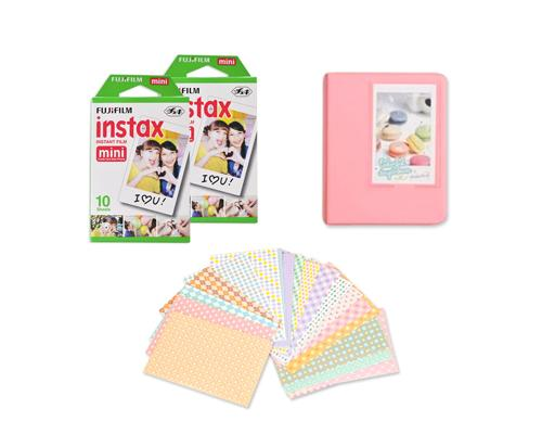 Fujifilm Bundle Set Mini Album/Frame for Fuji Instax Mini Films - Pink