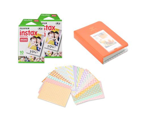 Fujifilm Bundle Set Mini Album/Frame for Fuji Instax Mini Films-Orange