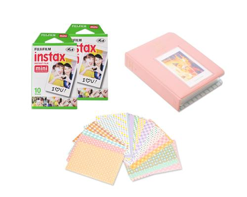 Fujifilm Bundle Set Mini Album/Frame for Fuji Instax Mini Films-Moment