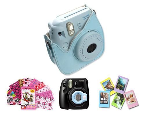 Fujifilm Bundle Set Film Sticker / Case for Fuji Instax  Mini 8 - Blue