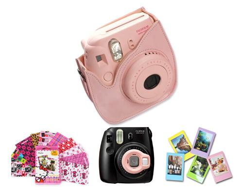 Fujifilm Bundle Set Film Sticker / Case for Fuji Instax  Mini 8 - Pink