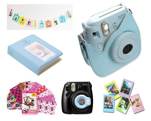 Fujifilm Bundle Set Photo Frame / Case for Fuji Instax  Mini 8 - Blue